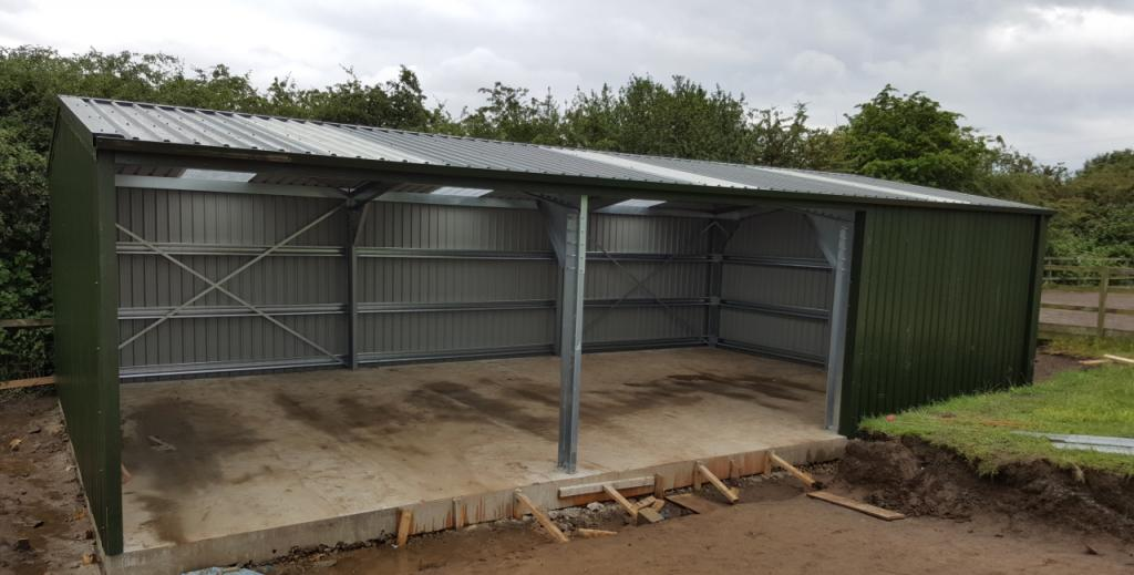 open fronted wood store commercial steel building yorkshire