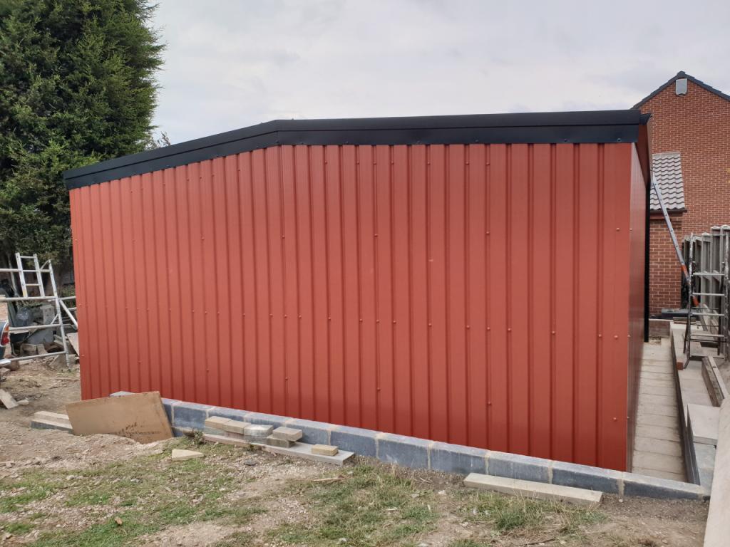Domestic Steel Classic Car Storage  Garage workshop Featherstone west yorkshire