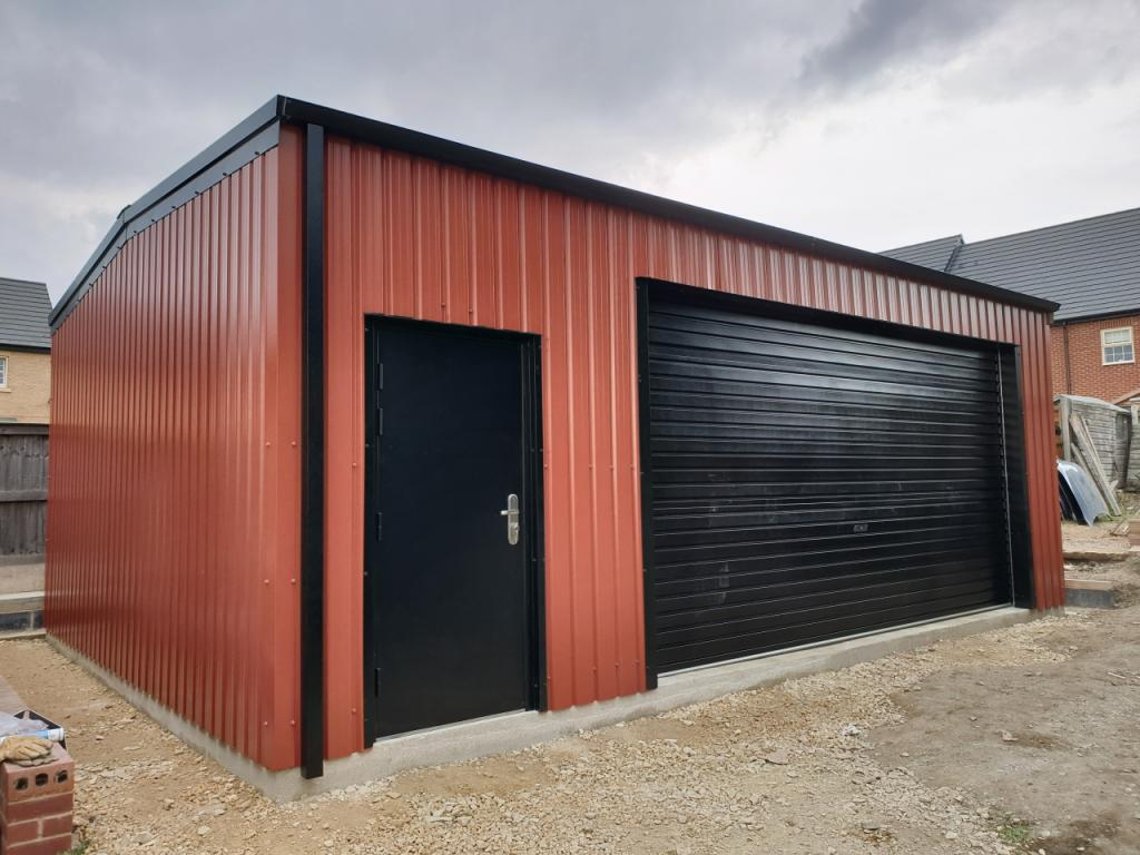 Domestic Steel Classic Car Garage and workshop Featherstone west yorkshire