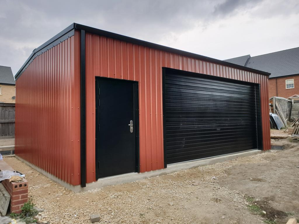 Domestic Car garage steel building with work in wakefield areashop