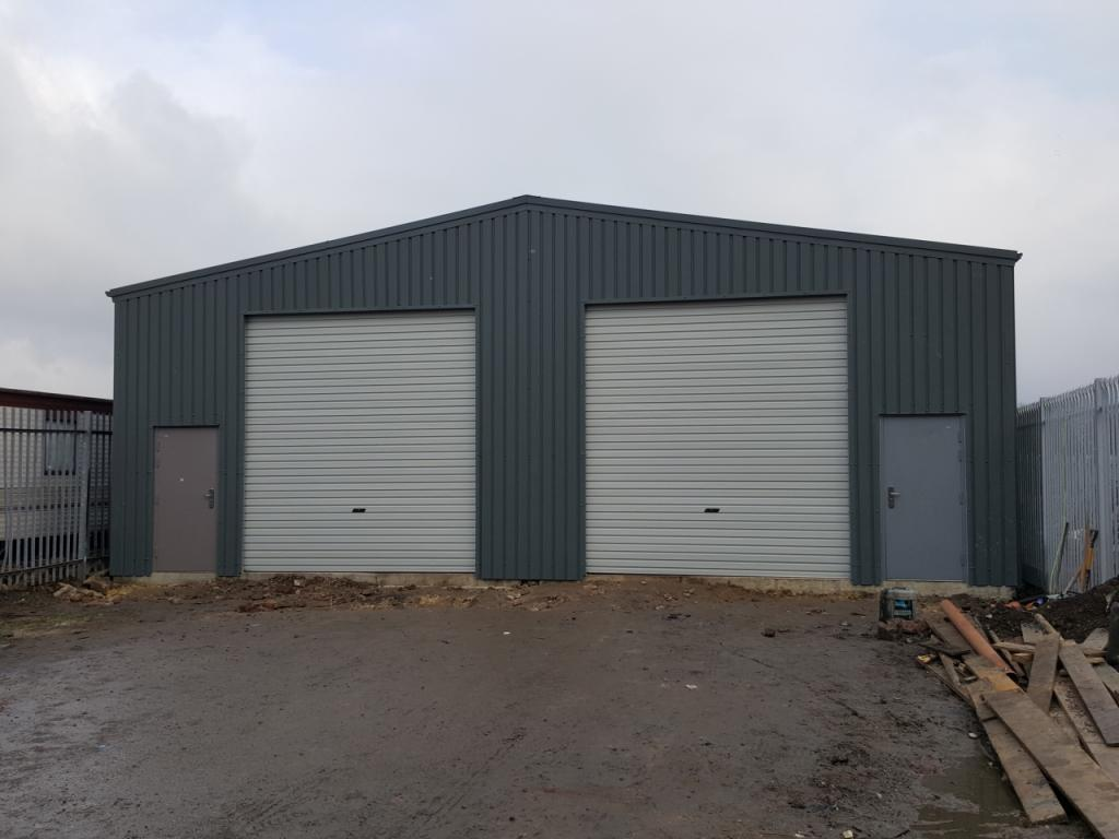Commercial industrial steel building near pontefract west yorlshire