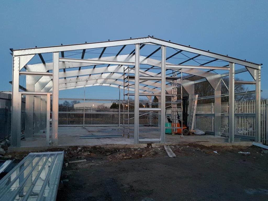 frame steel industrial build west yorkshire
