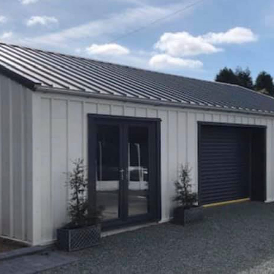 Domestic Steel Building home office Featherstone west yorkshire
