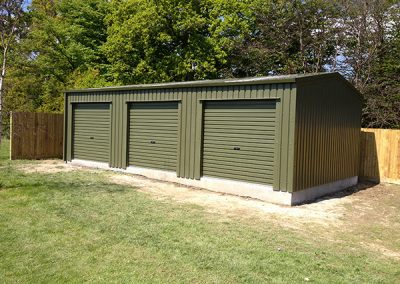 Eco Steel Buildings farm garage outbuilding lockup unit in Featherstone, West Yorkshire